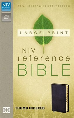 Book Niv, Reference Bible, Large Print, Imitation Leather, Black, Indexed, Red Letter Edition by Zondervan