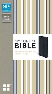 Book Niv, Trimline Bible, Bonded Leather, Navy, Red Letter Edition by Zondervan