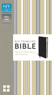 Book Niv, Trimline Bible, Bonded Leather, Black, Red Letter Edition by Zondervan
