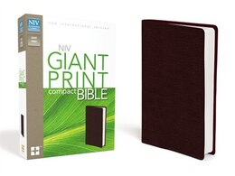 Book NIV, Giant Print Compact Bible, Imitation Leather, Burgundy by Zondervan