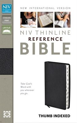 Book Niv, Thinline Reference Bible, Bonded Leather, Black, Indexed, Red Letter Edition by Zondervan