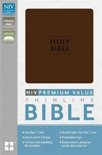 NIV, Value Thinline Bible, Imitation Leather, Brown