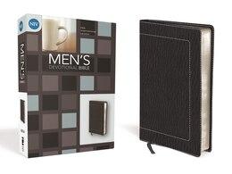 Book NIV, Men's Devotional Bible, Compact, Imitation Leather, Black by Zondervan