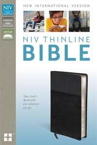 Niv, Thinline Bible, Imitation Leather, Black, Red Letter Edition