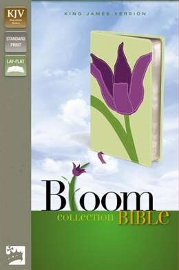 Book Kjv, Thinline Bloom Collection Bible, Imitation Leather, Green/purple, Red Letter Edition by Zondervan
