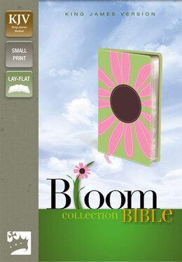 Book KJV, Thinline Bloom Collection Bible, Compact, Imitation Leather, Green/Pink, Red Letter Edition by Zondervan