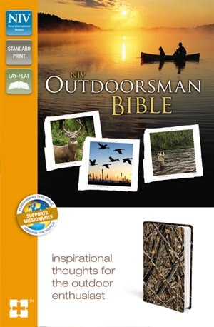 Niv, Outdoorsman Bible, Leathersoft, Brown, Red Letter Edition by Zondervan