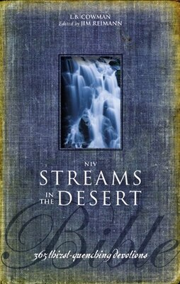 Book NIV, Streams in the Desert Bible, Hardcover: 365 Thirst-Quenching Devotions by L. B. E. Cowman