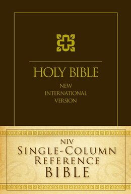 Book NIV, Single-Column Reference Bible, Hardcover: Jacketed Printed by Zondervan