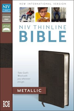 Book Niv Thinline Bible Metallic, Bonded Leather, Red Letter Edition by Zondervan
