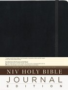 NIV, Holy Bible, Journal Edition, Hardcover