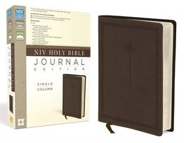 Book NIV, Holy Bible, Journal Edition, Imitation Leather, Brown by Zondervan