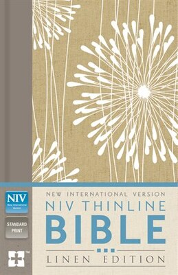 Book Niv, Thinline Bible, Linen Edition, Hardcover, Tan/white Linen, Red Letter Edition by Zondervan