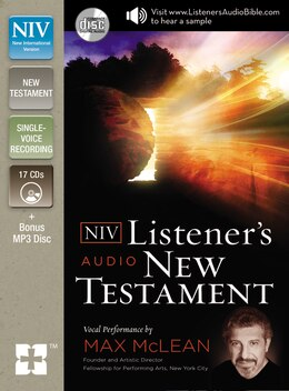 Book The NIV Listener's Audio New Testament: Vocal Performance by Max McLean by Max Mclean