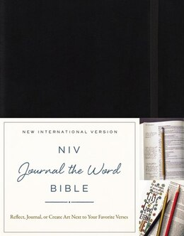 Book NIV, Journal the Word Bible, Hardcover, Black: Reflect, Journal, or Create Art Next to Your… by Zondervan