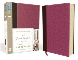 Book NIV, Journal the Word Bible, Large Print, Imitation Leather, Pink/Brown: Reflect, Journal, or… by Zondervan