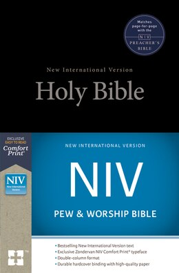 Book Niv, Pew And Worship Bible, Hardcover, Black by Zondervan