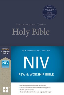 Book Niv, Pew And Worship Bible, Hardcover, Blue by Zondervan