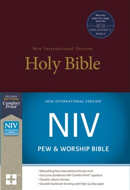 Book Niv, Pew And Worship Bible, Hardcover, Burgundy by Zondervan