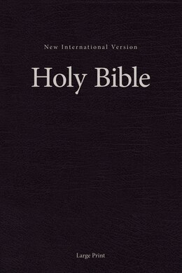 Book Niv, Single-column Pew And Worship Bible, Large Print, Hardcover, Black by Zondervan