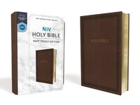 Niv, Holy Bible, Soft Touch Edition, Leathersoft, Brown, Comfort Print