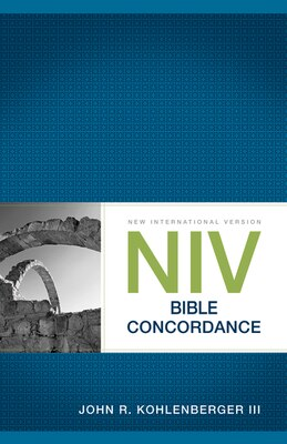 Book NIV Bible Concordance by John R. Kohlenberger Iii