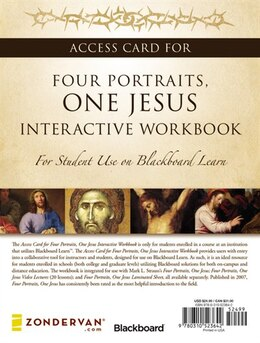 Book Access Card for Four Portraits, One Jesus Interactive Workbook: For Student Use on  Blackboard Learn by Mark L. Strauss