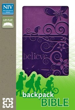 Book NIV, Backpack Bible, Imitation Leather, Purple by Zondervan