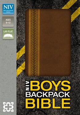 Book NIV, Boys Backpack Bible, Imitation Leather, Brown: Italian Duo-tone Walnut/amber by Zondervan