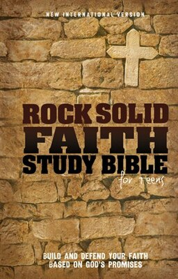 Book NIV, Rock Solid Faith Study Bible for Teens, Hardcover: Build and defend your faith based on God's… by Various Authors