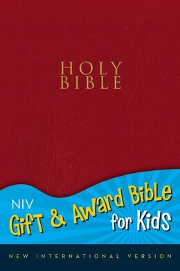 Book NIV, Gift and Award Bible for Kids, Imitation Leather, Red, Red Letter by Zondervan