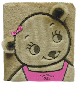 Book Tiny Bear's Bible Board Book Faux Fur Pink by Sally Lloyd-Jones