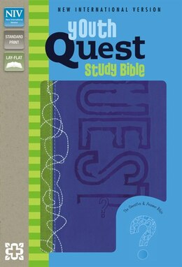 Book NIV, Youth Quest Study Bible, Imitation Leather, Blue/Green: The Question and Answer Bible by Zonderkidz