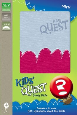 Book NIrV, Kids' Quest Study Bible, Imitation Leather, Pink/Blue: Real Questions, Real Answers by Zonderkidz