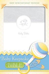 NIV, Baby Keepsake Bible, Imitation Leather, White