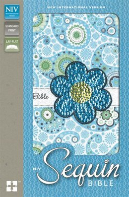 Book NIV, Sequin Bible, Imitation Leather, Blue by Zondervan
