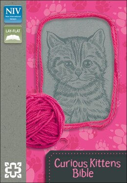 Book NIV, Curious Kittens Bible, Imitation Leather, Pink/Gray, Red Letter: Italian Duo-Tone, Gray by Zonderkidz
