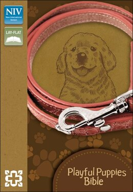 Book NIV, Playful Puppies Bible, Imitation Leather, Brown, Red Letter: Italian Duo-Tone, Toffee by Zonderkidz