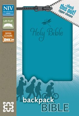 Book NIV, Backpack Zipper Bible, Imitation Leather, Turquoise, Red Letter: Teal Italian Duo-tone by Zondervan