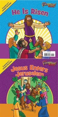 Book The Beginner's Bible Jesus Enters Jerusalem and He Is Risen: The Beginner's Bible Easter Flip Book by Zondervan