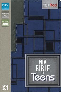 Book NIV, Bible for Teens, Imitation Leather, Navy/Gray by Zondervan