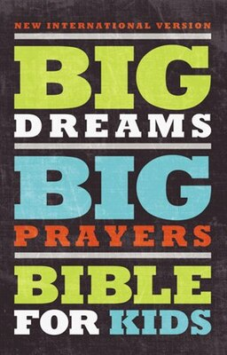 Book NIV, Big Dreams, Big Prayers Bible for Kids, Hardcover by Zondervan