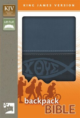 Book KJV, Backpack Bible, Imitation Leather, Blue by Zondervan