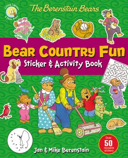 Book The Berenstain Bears Bear Country Fun Sticker and Activity Book by Jan & Mike Berenstain