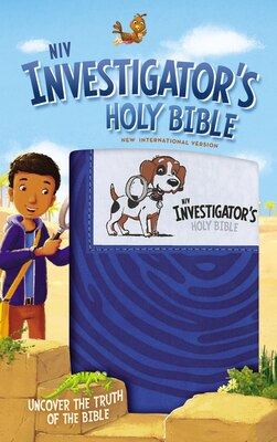 Book Niv Investigator's Holy Bible, Imitation Leather, Blue: Uncover The Truth Of The Bible by Zondervan