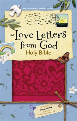 Book Nirv Love Letters From God Holy Bible, Imitation Leather, Magenta by Zondervan