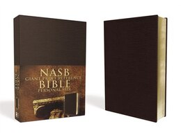 Book Nasb, Reference Bible, Giant Print, Personal Size, Imitation Leather, Burgundy, Red Letter Edition by Zondervan