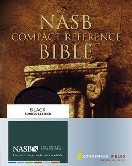Book Nasb, Compact Reference Bible, Bonded Leather, Black, Red Letter Edition by Zondervan