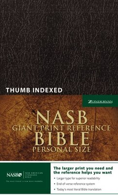 Book Nasb, Reference Bible, Giant Print, Personal Size, Imitation Leather, Black, Indexed by Zondervan