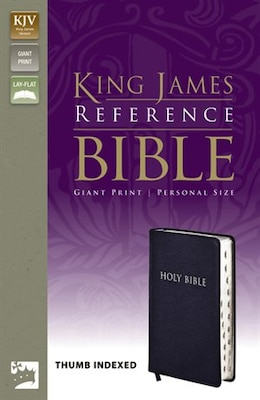 Book Kjv, Reference Bible, Giant Print, Personal Size, Bonded Leather, Navy, Indexed, Red Letter Edition by Zondervan